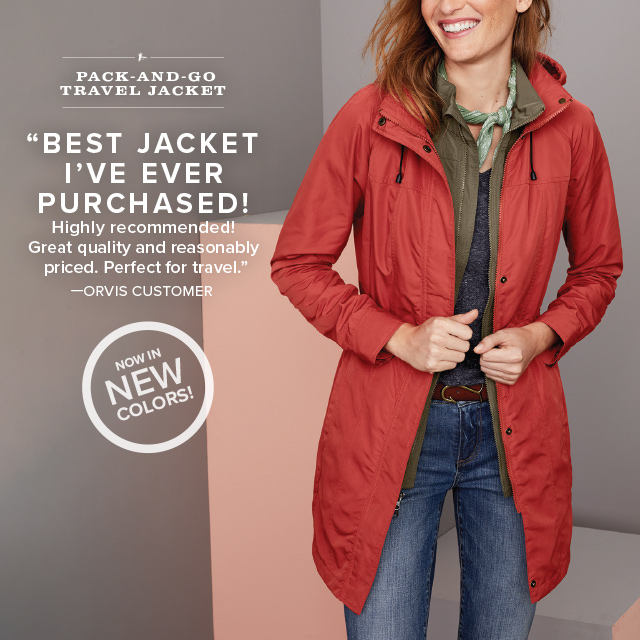 """""""BEST JACKET I'VE EVER PURCHASED! Highly recommended! Great quality and reasonably priced. Perfect for travel."""" —ORVIS CUSTOMER"""