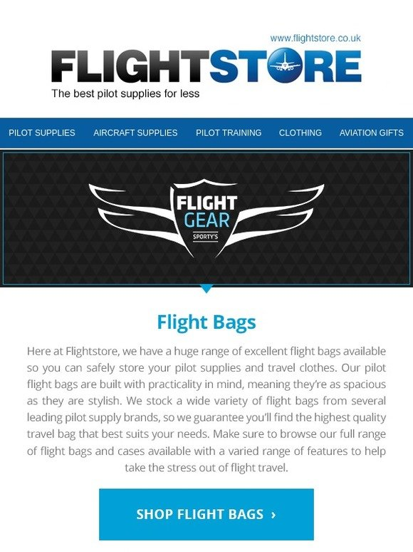 Flight Store: Flight Gear HP | Get yours at Flightstore | Milled