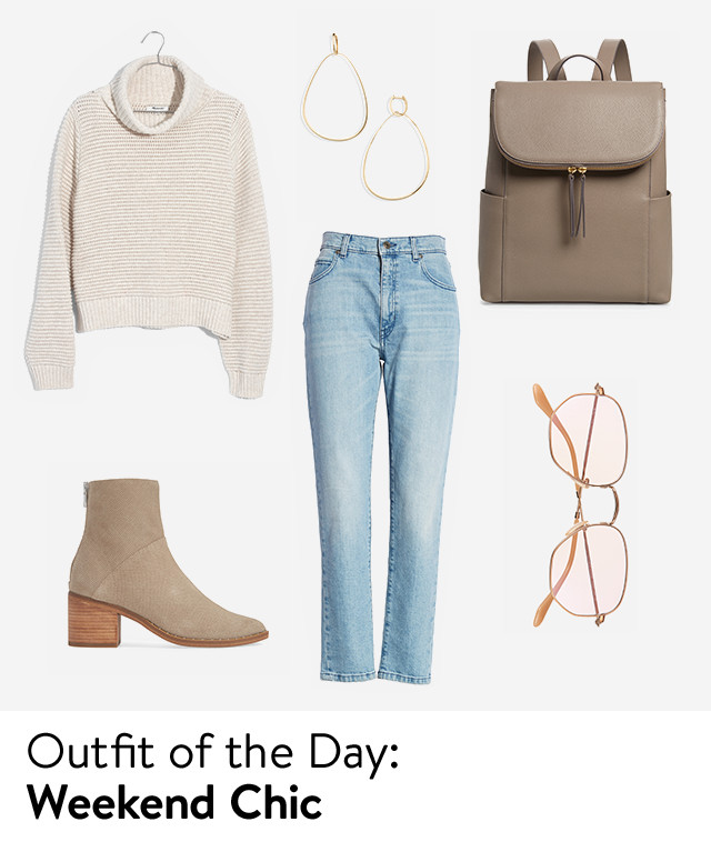 Outfit of the day: weekend chic.