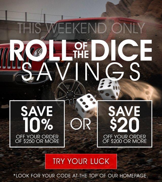 Roll of the Dice Savings