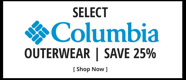 Save 25% on Select Columbia Outerwear