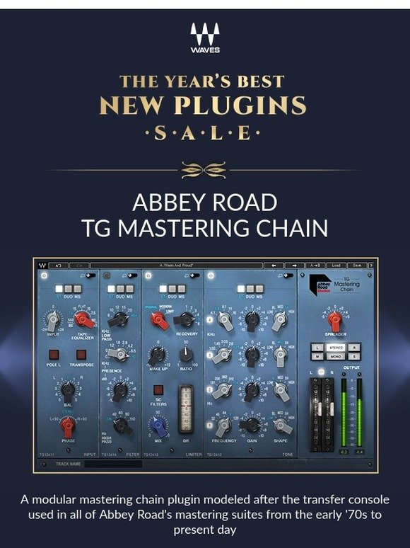 Waves Audio: On Sale: Abbey Road TG Mastering Chain Plugin | Milled