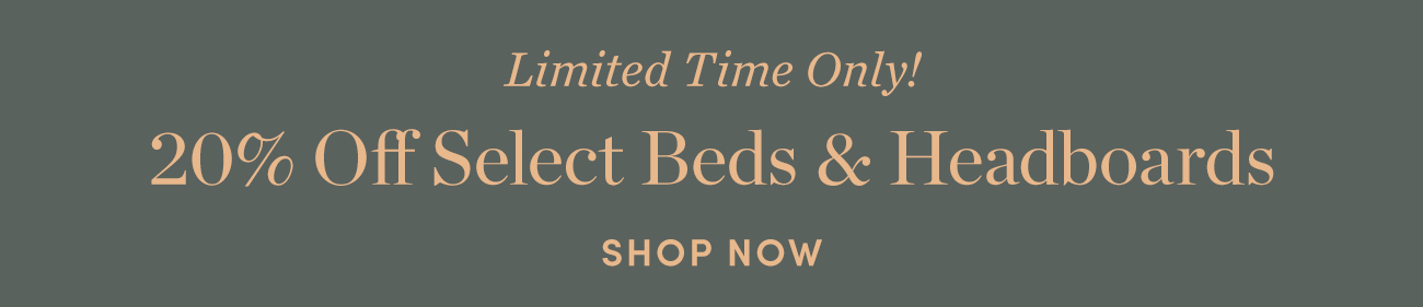 20% off Beds & Headboards
