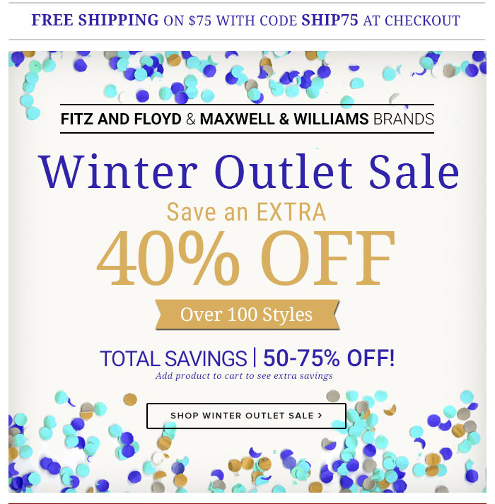 Winter Outlet Sale!