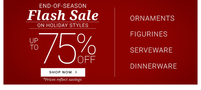 End of Season Flash Sale