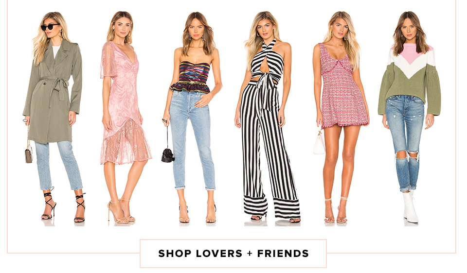 Brand Obsession: Lovers + Friends. Shop Now.