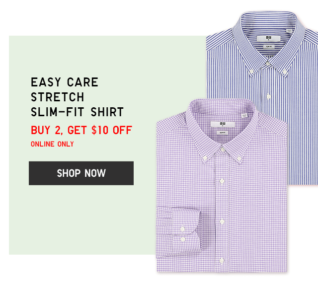 EASY CARE STRETCH SLIM-FIT SHIRT - BUY 2, GET $10 OFF ONLINE ONLY