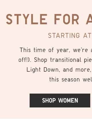 STYLE FOR ALL SEASONS, FOR LESS - SHOP WOMEN