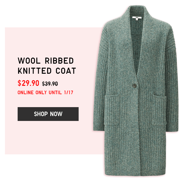 WOOL RIBBED KNITTED COAT $29.90 - SHOP NOW