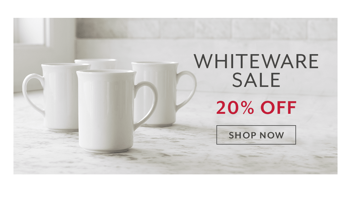 Whiteware Sale