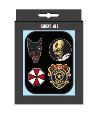 2221512c1e92e Image of Resident Evil 2  Pinned Down Collectable Badge Set Preorder