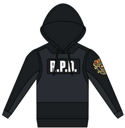 4230a4cde9552 Image of Resident Evil 2  Leon Kennedy RPD Premium Hoodie Preorder
