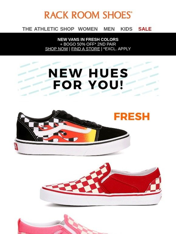 Vans checkerboard in fresh new hues