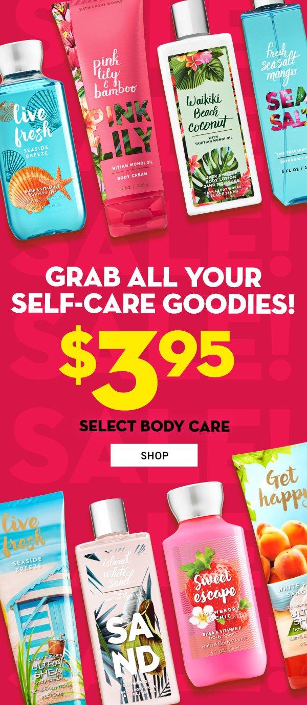 $3.95 Select Body Care - SHOP