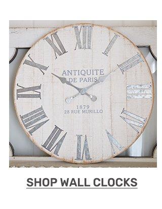 Shop wall clocks.