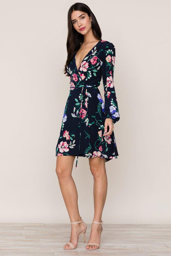 Image of Duchess Wrap Silk Dress