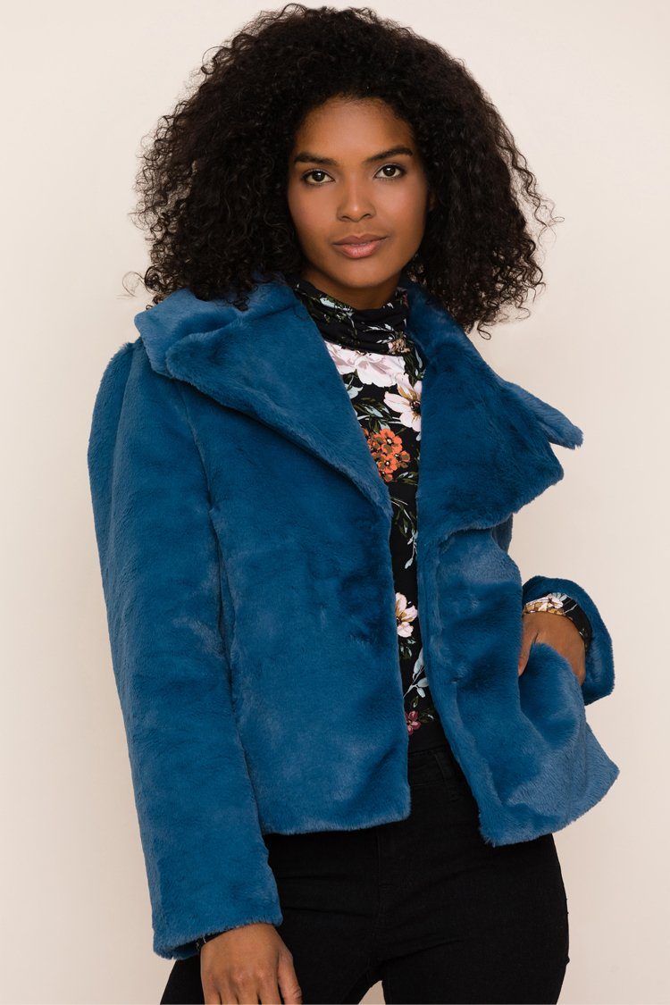 Image of Park City Faux Fur Jacket