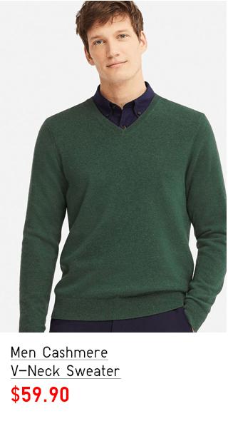 MEN CASHMERE V-NECK SWEATER $59.90