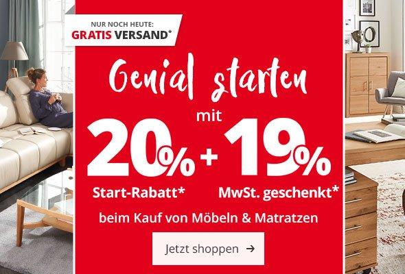 Möbel Höffner Letzter Tag Gratis Versand 20 Rabatt 19 Mwst