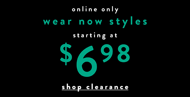Online only. Wear new styles starting at $6.98 - Shop Now