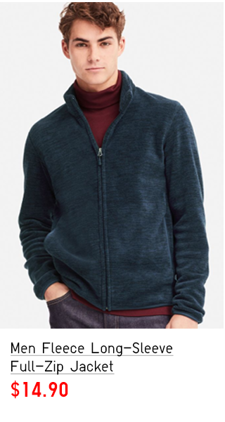 MEN FLEECE LONG-SLEEVE FULL-ZIP JACKET $14.90