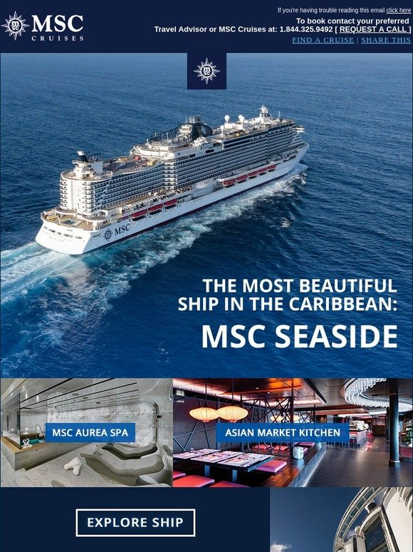 MSC Cruises: See the most beautiful ship in the Caribbean