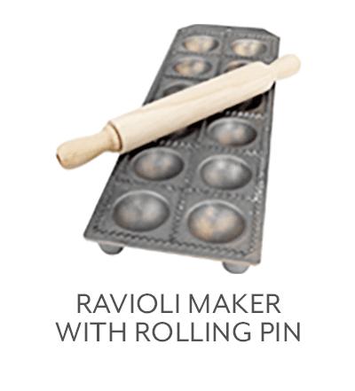 Ravioli Maker with Rolling Pin