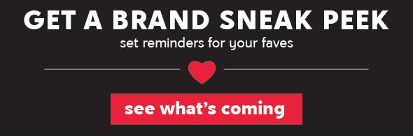 Set reminders for your favorite brands