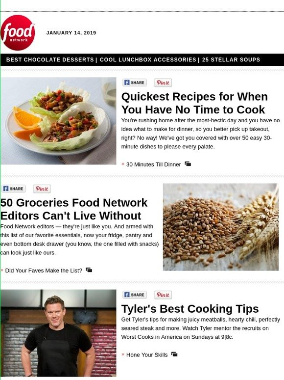 Food Network on Messenger: 50 Groceries Our Editors Can't