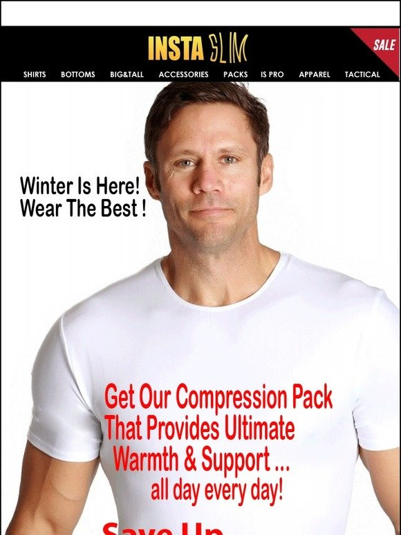 95d9584b Insta Slim - Slimming Compression Shirts for Men: Winter Is Here! Wear The  Best Undershirt Ever.. Stay Warm   Save up to 70% off + FREE SHIPPING        ...