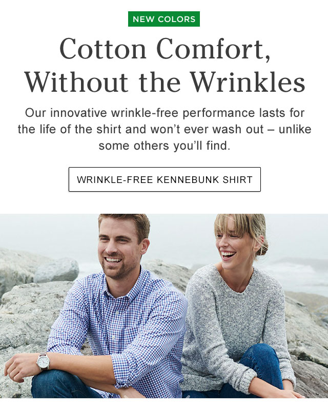 Cotton Comfort, Without the Wrinkles. Our innovative wrinkle-free performance lasts for the life of the shirt and won?t ever wash out ? unlike some others you?ll find..