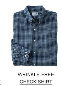 Wrinkle-free check shirt