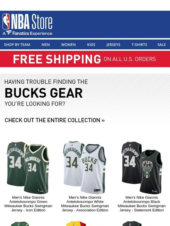 7adcb8afb85 The NBA Store  Rep Your Bucks Pride w  These Top Picks...