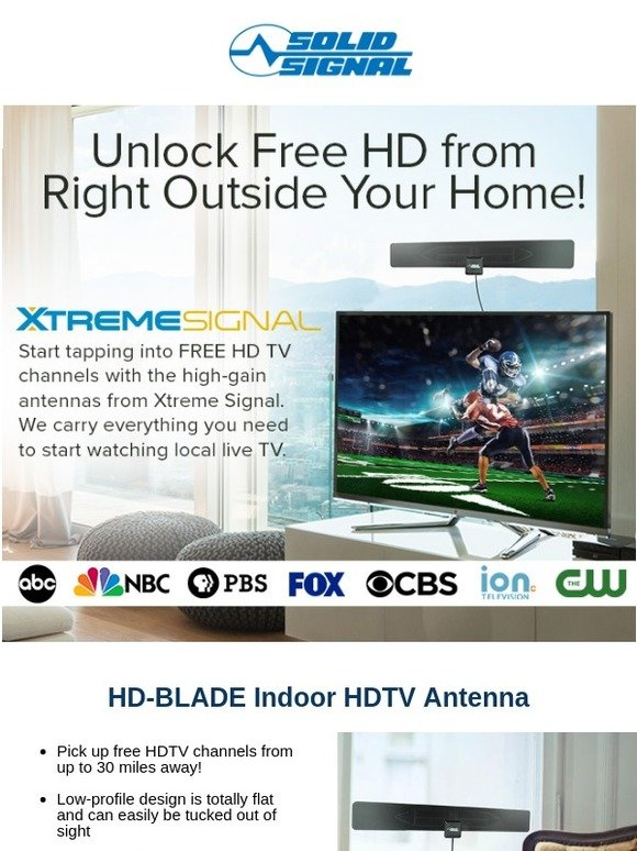 Solid Signal: TV Antennas Bring Free HD with No Monthly Fees | Milled