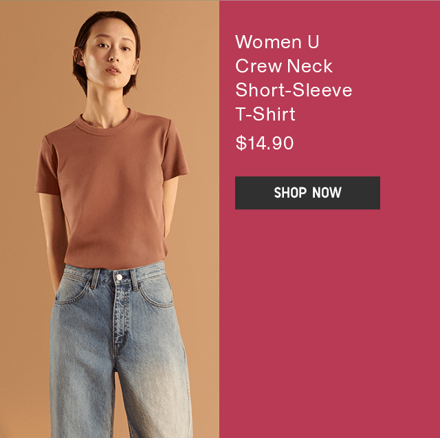 WOMEN U CREW NECK SHORT-SLEEVE T-SHIRT $14.90 - SHOP NOW