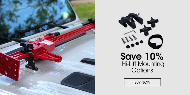 10% Off on Hi-Lift Mounting Options