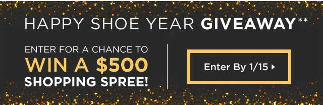 Enter Happy Shoe Year Giveaway