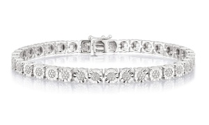 Brilliant Diamond 1/4 CTTW Diamond Tennis Bracelet in Sterling Silver