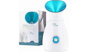 NanoSteamer 3-in-1 Ionic Facial Steamer with Blemish Remover Kit