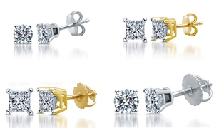 1/10-1.00 CTTW Certified I2-I3 Diamond Studs in 14K by DeCarat