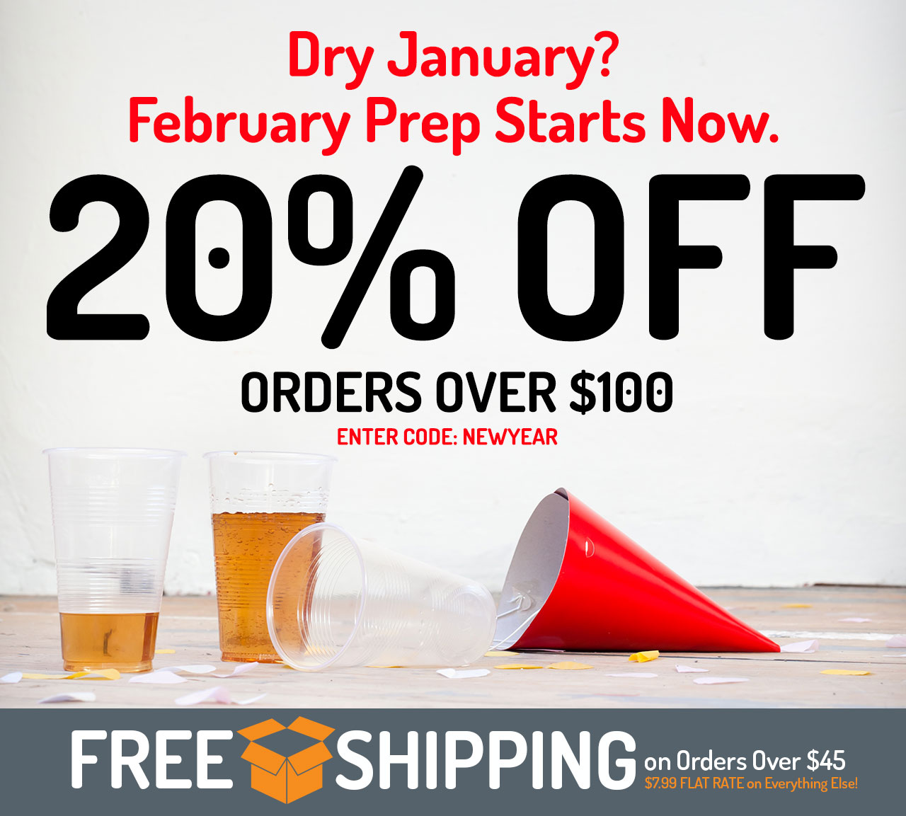 20% Off Orders Over $100. Promo Code: NEWYEAR