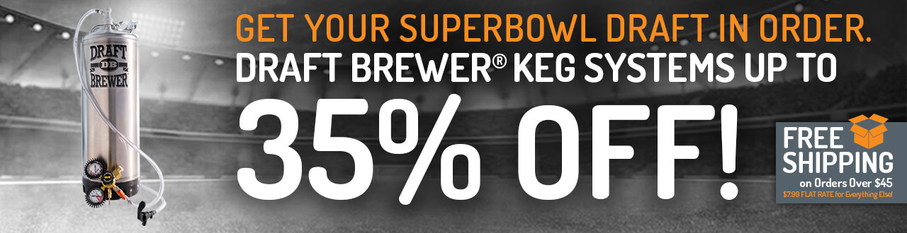Save Up To 35% Off Kegging Systems