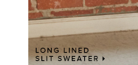LONG LINED SLIT SWEATER