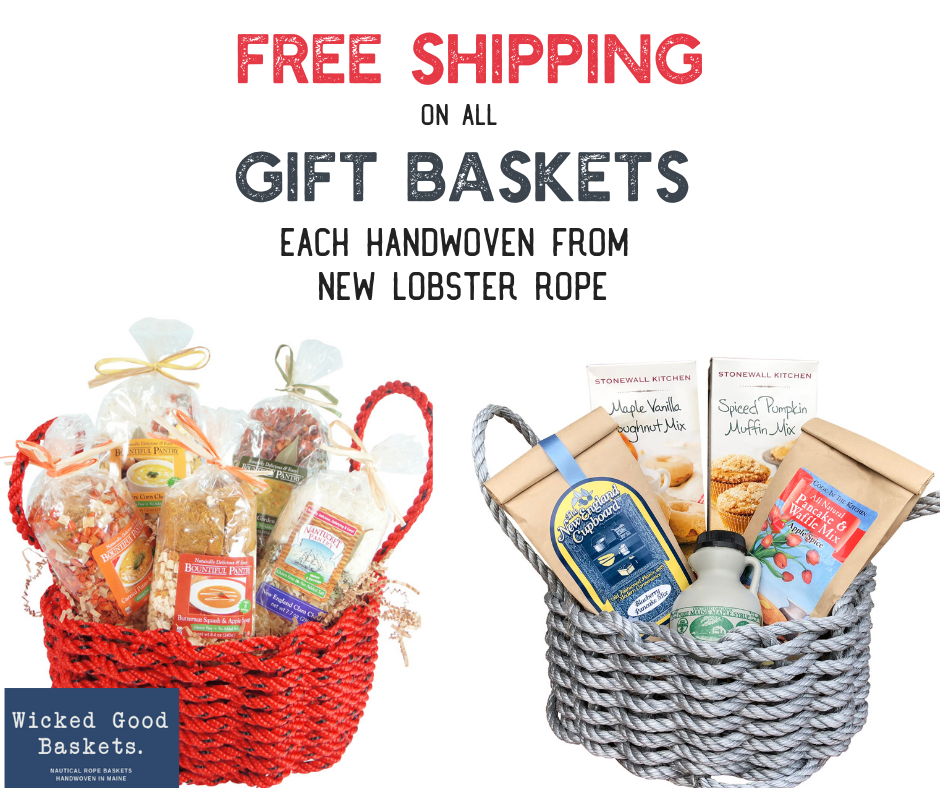 Keep the cold at bay with a warm chowder from our New England Chowder Basket or a hot pastries from the New England Breakfast Basket.