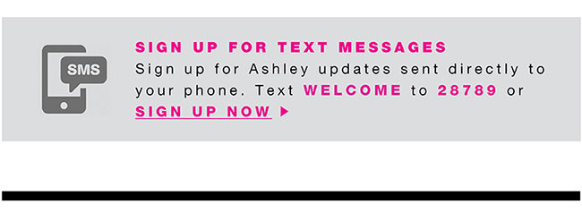 Sign up for text message