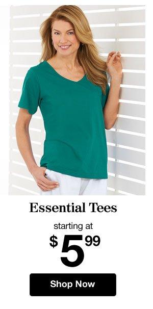 Shop Women's Essential Tees!