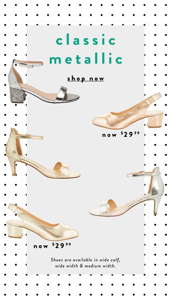 Classic Metallic shoes - Shop Now