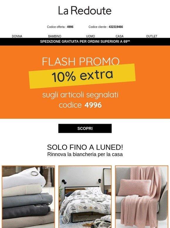 La Redoute Biancheria Da Letto.La Redoute It Flash Promo 10 Extra Sulla Biancheria Da Letto