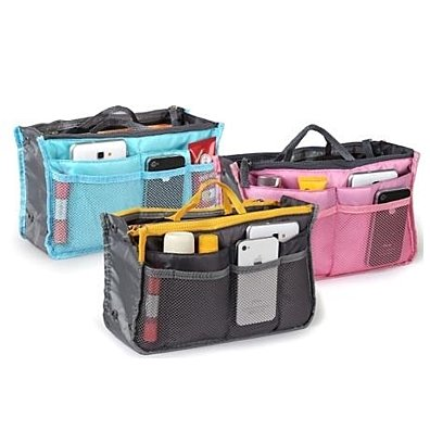 STYLEDOME Slim Bag-in-Bag Purse Organizer - Assorted Color