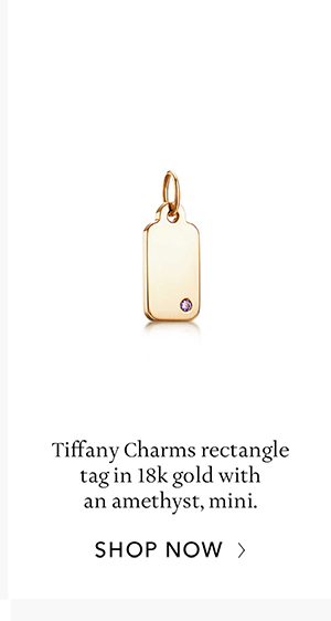 Shop Now: Gold with Amethyst Tiffany Charms Tag